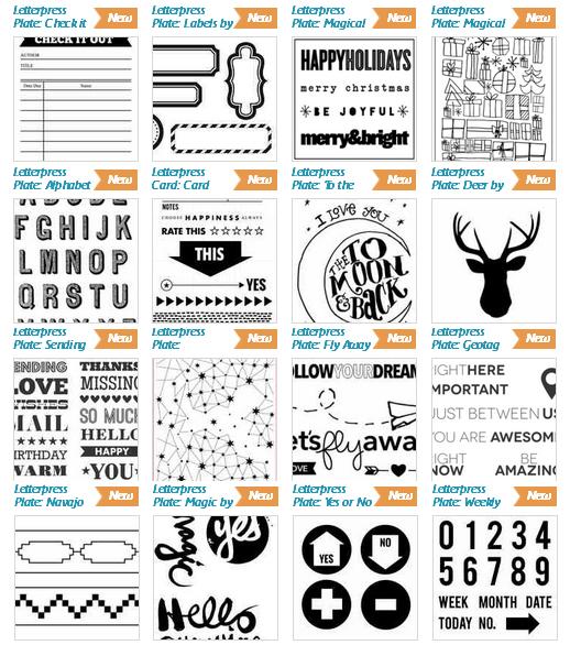 Letterpress templates
